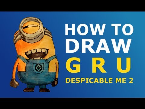 how to draw gru minions step by step