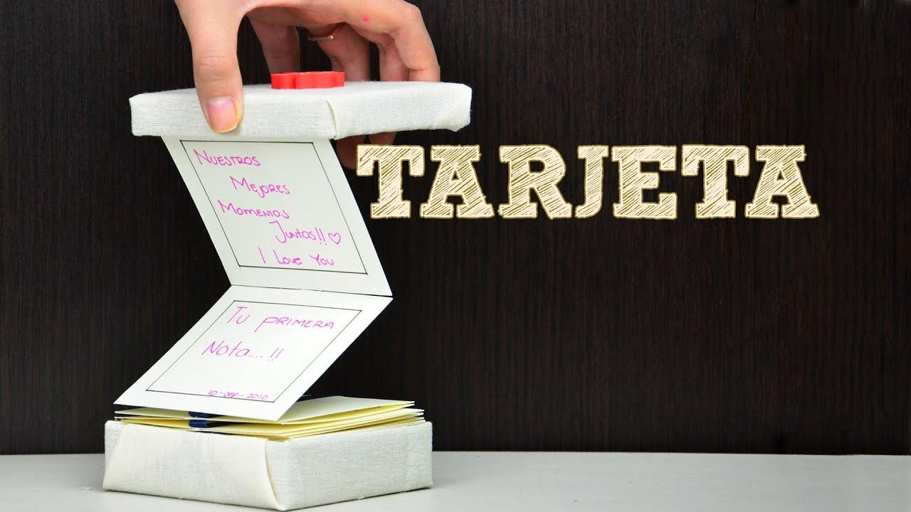 Tarjeta de recuerdos para regalar musas ideas para - Ideas manuales para regalar ...