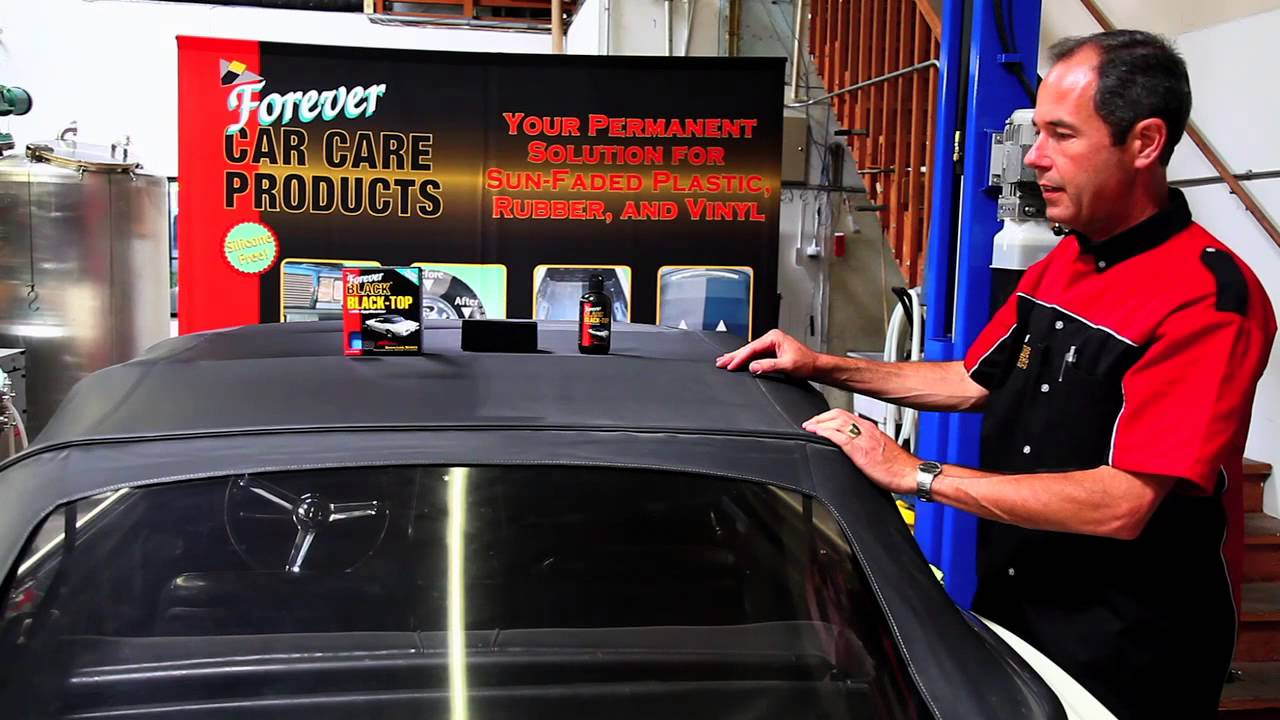 How To Restore Your Convertible Top With Forever Black
