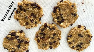 3 INGREDIENT BANANA OATMEAL COOKIES | Healthy Banana Cookies Recipe to Try during Quarantine