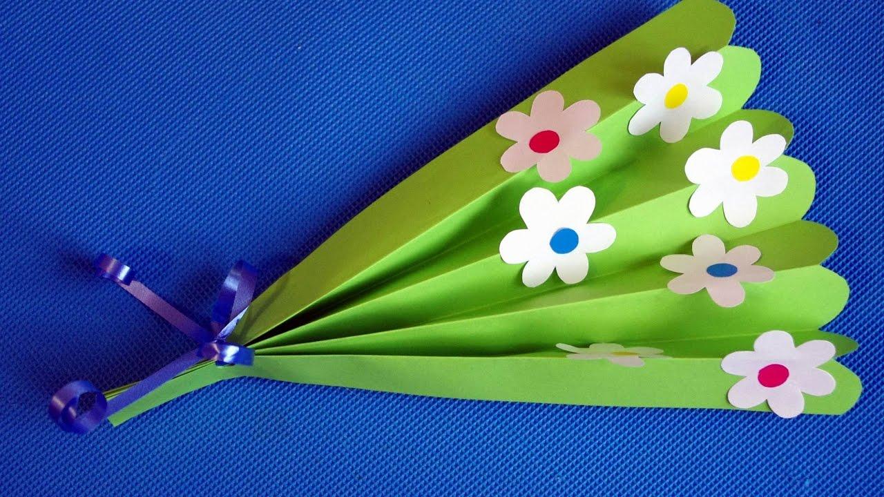 Как сделать цветы из бумаги своими руками в детском саду 76