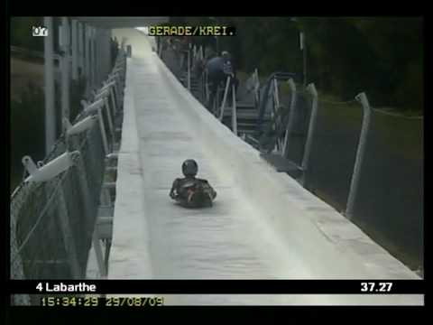 Altenberg Bobtrack in Streetluge