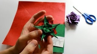 How to fold Pentagon Origami Naomiki Sato Rose Calyx 五角形 佐藤直幹 摺紙玫瑰 花萼教學