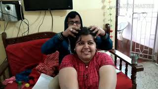 Oil massage by husband || Indian husband gives head message || hair treatment for healthy hair