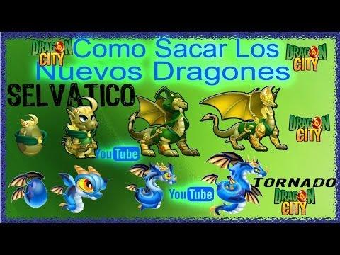 Como Sacar a los 2 Nuevos dragones selvatico y tornado de Dragon City 2014