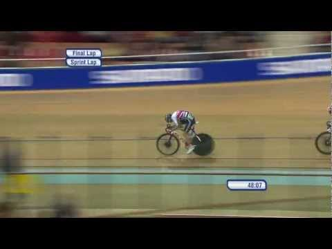 Men's Points Race - exciting finish - 2013 UCI World Track Championships, Minsk - Track Cycling