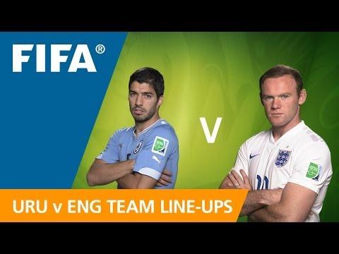 Uruguay v. England - Teams Announcement