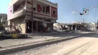 New video ISIS Militant Video Shows Vast Damage in Kobani ayn el arab