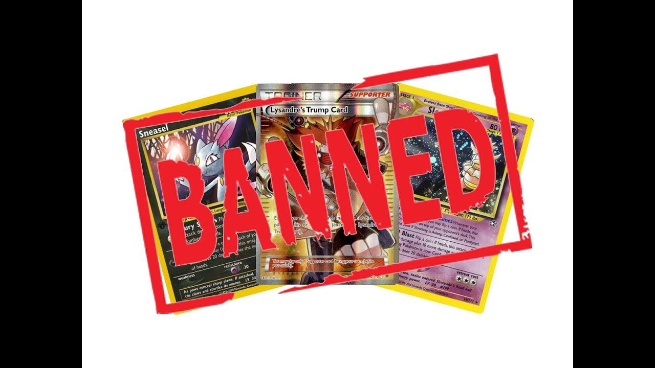 Trump Card Pokemon Banned Trump Card Banned