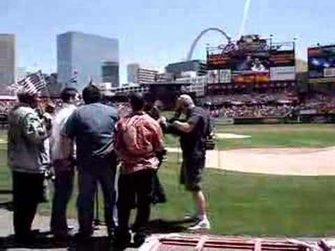 Singing the National Anthem at the Cardinals Game
