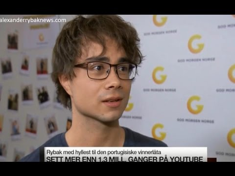 Alexander Rybak on his tribute to Salvador and Luisa Sobral, Nyhetskanalen 16.05.17