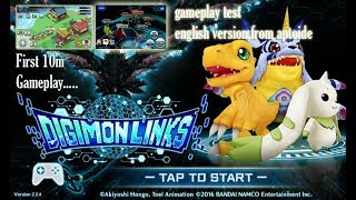 Android Game : Digimon Links,first 10m gameplay,donload apk