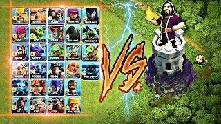 Max wizard tower vs all troops 😇 || No limits ||