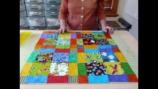 "How to have Fun with Novelty 5"" squares - Quilting Tips & Techniques 062"