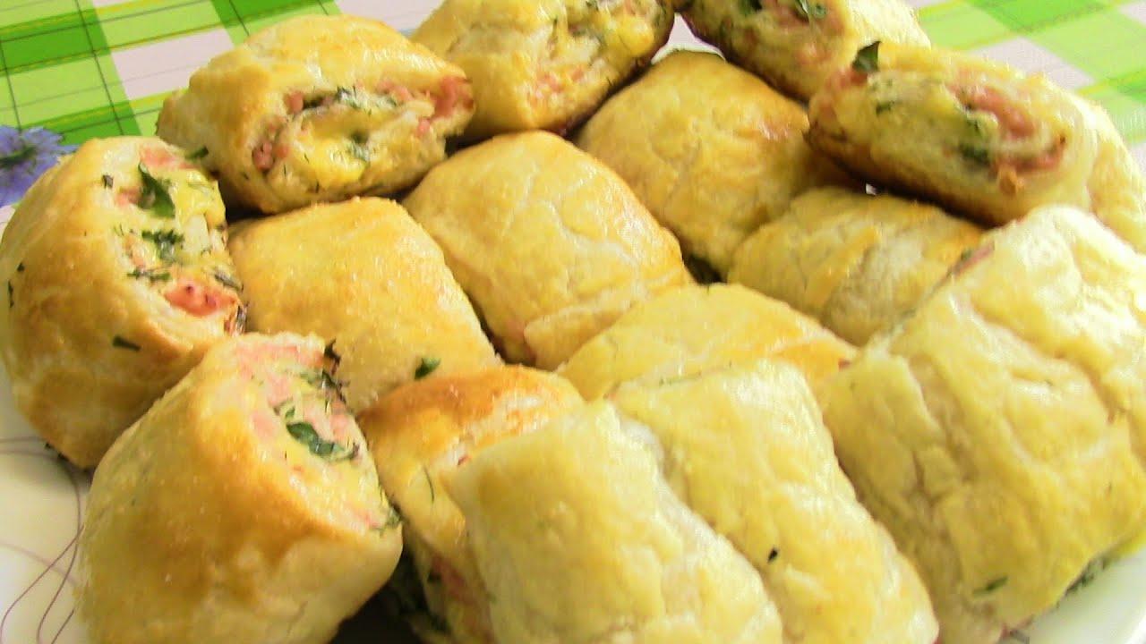 Слойки с сыром и грибами рецепт пошагово