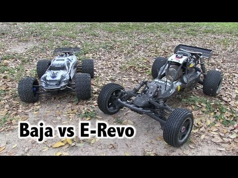 E-Revo vs Baja 5b - (electric vs gas)