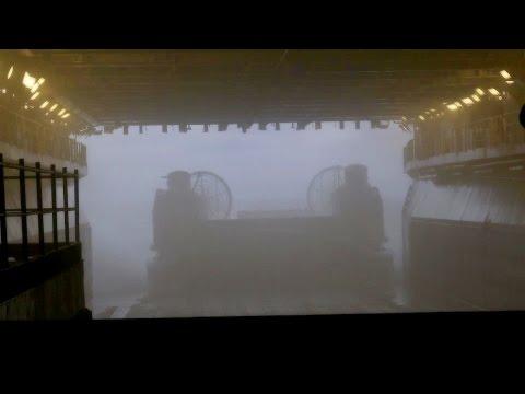 Navy Hovercrafts Depart From Amphibious Assault Ship