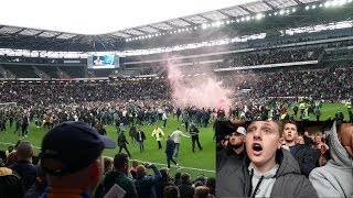 PITCH INVASION, FIGHTS, CARNAGE - MK DONS VS MANSFIELD TOWN