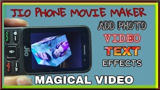 jio phone me photo se video kaise banaye with music, text effect | jio phone video maker app