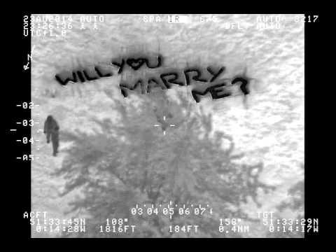 Metropolitan Police helicopter crew spot London marriage proposal