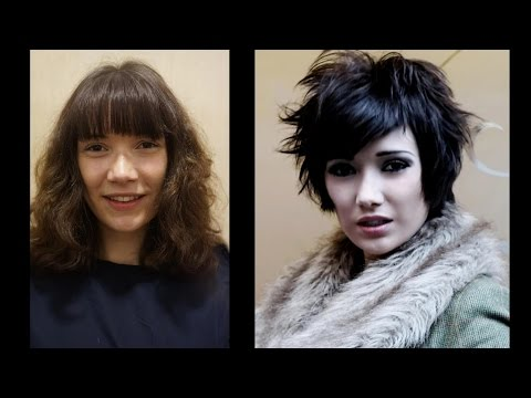 Long To Medium Haircut ✂ How To Cut Hair In Short Layers With Bangs Hairstyle Makeover