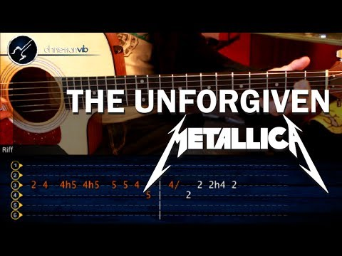 Como tocar The Unforgiven METALLICA en guitarra acustica HD Tutorial