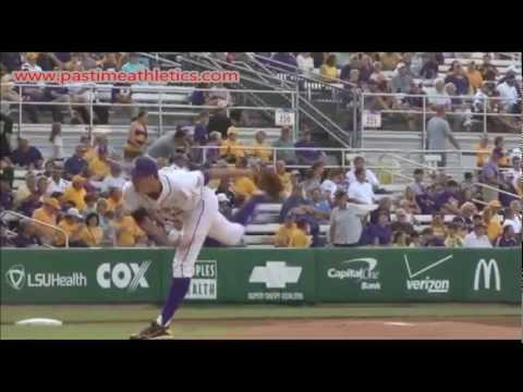 Kevin Gausman Slow Motion Pitching Mechanics - Baseball Baltimore Orioles MLB Tips Drills LSU