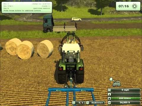 Farming Simulator 2013-Baling and Trasporting Bales