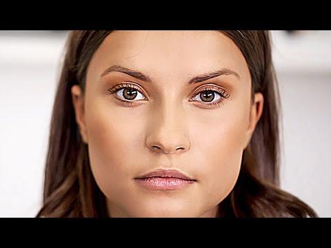 Как сделать легкий дневной макияж с помощью бронзатора.  Красивый естественный макияж.