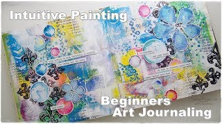Intuitive Art Journal Painting for Beginners ♡ Maremi's Small Art ♡