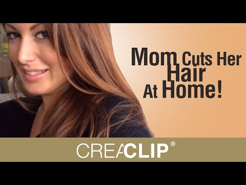 Mom Cuts Her Hair At Home! Kim Kardashian inspired hairstyle.