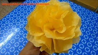 How To Make A Tissue Paper Flower Very Easily....