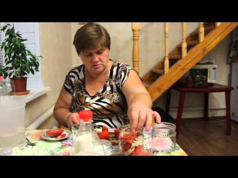 """Рецепт консервированных помидоров. """"Аппетитные дольки""""."""