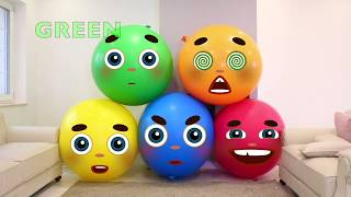 Balloon face to learn colors | Nursery Rhymes Songs for Children, Baby and Kids