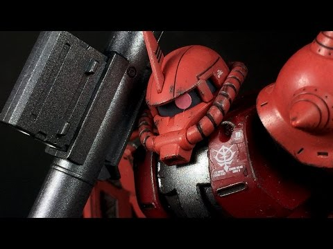 1/144 HG Char's Zaku II The ORIGIN Ver.   REVIEW