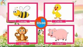 Câu đố vui cho bé về con vật | đố bé con gì dạy bé học con vật tiếng việt | Giáo dục trẻ em ECE 2