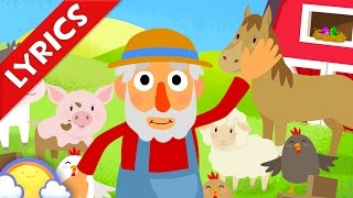 Old MacDonald Had a Farm + Lyrics! | Nursery Rhymes for Children | CheeriToons