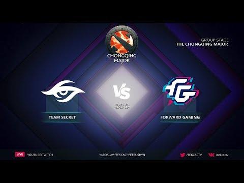 [RU] Team Secret vs Forward Gaming | Bo3 | The Chongqing Major by @Tekcac