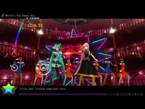 Project Diva F Demo [ENG] - World's End Dance Hall [Easy]