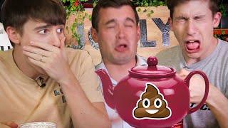 Trying the World's Strangest Teas!! (Yak Milk vs Larvae Poopㅠ)