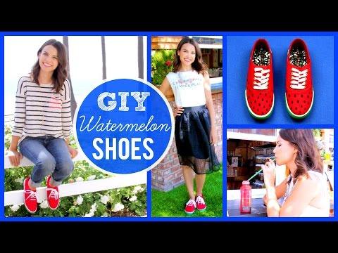 GIY Watermelon Shoes + How I Wear Them!
