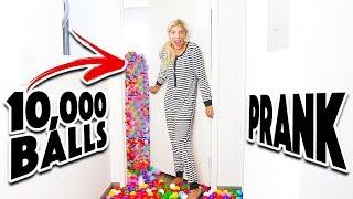10,000 Ball Pit Surprise In Matt's Room! (Prank Wars)