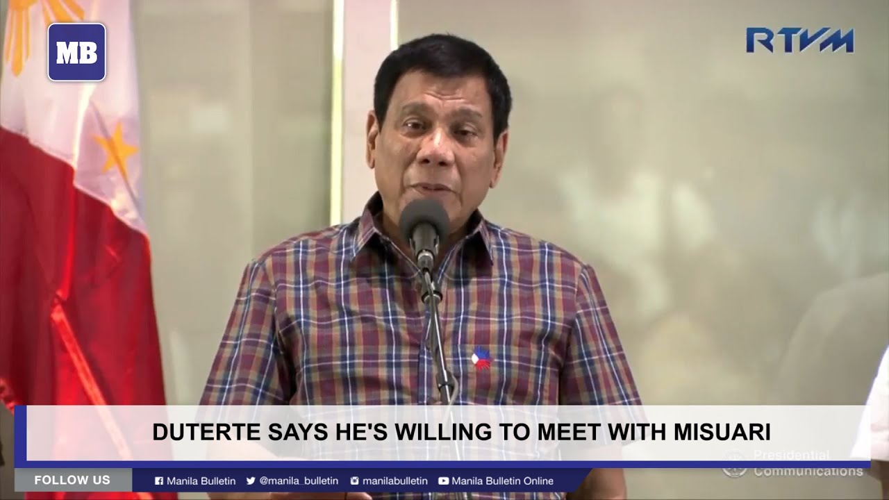 Duterte says he's willing to meet with Misuari