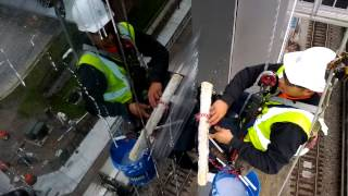 High Rise Window Cleaning - Construction Site