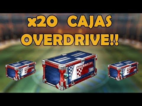 ABRIENDO 20 CAJAS OVERDRIVE | Rocket League