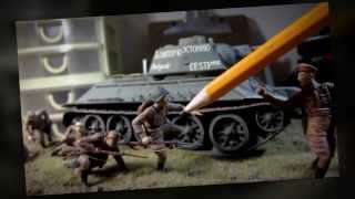 Building Dragon Smart Kit T-34/76 Mod.1943 Tank Complete From Start to Finish. In HD