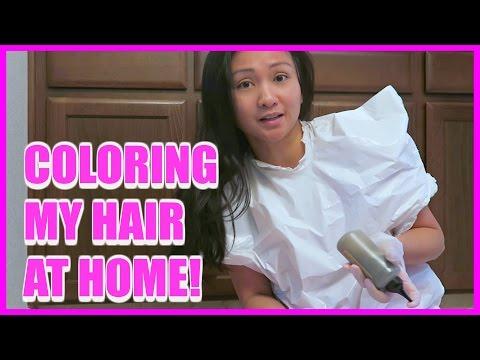 COLORING MY HAIR AT HOME!
