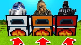 Minecraft PE : DO NOT CHOOSE THE WRONG FURNACE! (R2-D2, Chewbacca & Darth Vader)