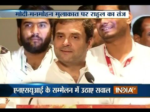 PM Modi took lessons from Manmohan on economy: Rahul Gandhi