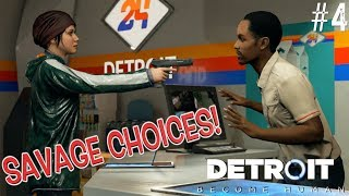 """GAME CHANGER CHOICES!!( FUNNY """"DETROIT: BECOME HUMAN"""" SAVAGE EDITION GAMEPLAY #4)"""